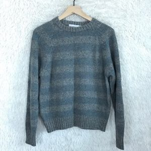 Wool Striped Sweater Gray Vintage McGregor